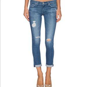AG The Stilt Cigarette Roll-Up Jeans 🔥